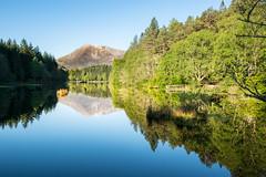 Lohan Glencoe (weejohnmurray) Tags: summer water sunrise reflections landscape scotland scottish glen glencoe loch lochan