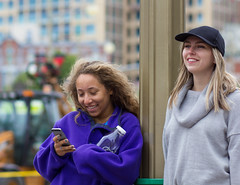 04 (O Harris) Tags: street girls canada students smile canon happy sweater phone outdoor ottawa cap blonde waterbottle pupils 2016 teengirls yeens