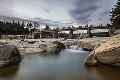 dam wall (michael.taferner) Tags: sky cloud nature water canon river eos austria long exposure angle outdoor stones dam tripod wide windy carinthia 6d villach 24105l