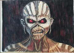 #Iron #Maiden, #Book #Of #Souls, #Eddie. Of all the coloured pencil drawings I've done,  over the relatively short period of time I've been drawing, this is my best I think. Although this won't be to everyone's taste. (Colouredpencilreviews) Tags: souls book iron eddie maiden of