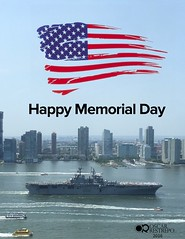 To honor all of those who sacrificed their lives for our freedom. Thank you. #MemorialDay (oscararestrepo) Tags: outdoor hudsonriver memorialday citi