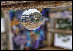 through the colour bubble (Dax Ward Photography) Tags: travel streetart art thailand graffiti mural bangkok thai huahin crystalball glassball