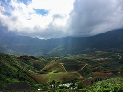 Beautiful rice terraces in Sa Pa (Evgeny Ermakov) Tags: travel blue trees light vacation sky cloud sunlight mountain mountains tree green tourism nature beautiful beauty field clouds forest observation landscape asian freedom asia southeastasia heaven vietnamese view rice paddy cloudy outdoor traditional horizon terraces overcast landmark scene hills vietnam destination southeast typical idyllic sapa paddyfield vn locai