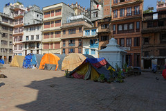 DS1A4337dxo (irishmick.com) Tags: nepal kathmandu 2015 yetakha baha chhetrapati stupa earthquake shelter