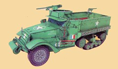 WWII M3A1 Half-Track Scout Car Free Vehicle Paper Model Download (PapercraftSquare) Tags: wwii m3 131 halftrack scoutcar m3a1 m3halftrack vehiclepapermodel