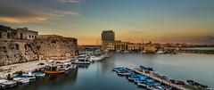Gallipoli (Untalented Guy) Tags: city sea panorama costa water landscape mediterraneo mare wide wideangle acqua gallipoli salento puglia paesaggio lecce citt ionio