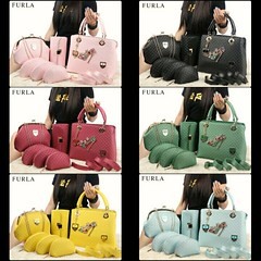 IS3 @310 Bag Furla 1935 6in1 30x25x14cm 2kg Kulit Embos #ParisHilton#Cinderella#SemiOriginal#Black#Yellow#Green#Pink#Maroon#LightBlue (merboutique) Tags: pink black green yellow parishilton maroon cinderella lightblue semioriginal
