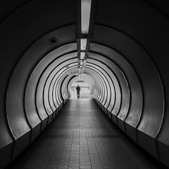 Exit (elenaleong) Tags: bw silhouette contrast square tunnel minimalist tolights