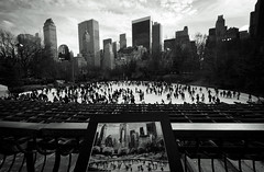 Deja Vu (Catch the dream) Tags: people bw newyork monochrome togetherness blackwhite artwork unitedstates skating skaters ring rink enjoyment bnw enthusiastic dejavu enthusiasm wollman wollmanrink skatingring skatingincentralpark