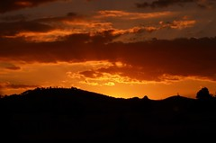 Photodrive sunset (phunnyfotos) Tags: light sunset sky orange cloud sun silhouette yellow clouds gold golden nikon skies hill australia victoria hills vic rays snowroad milawa markwood northeastvictoria whorouly nikond5100 phunnyfotos