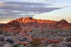 Valley of Fire at Sunset (D.Tarasov) Tags: park las vegas mountain valleyoffire fire mt desert hiking nevada nv national valley wow1 wow2 wow3 flickrstruereflection1 flickrstruereflection2 flickrstruereflection3