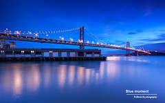 Blue Moment (davidyuweb) Tags: sanfrancisco california bridge blue light usa bay moment sfist twlight