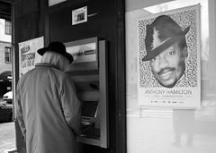 Trilby hat (Sean Lewthwaite) Tags: street man hat poster point spring europe sweden stockholm candid cash atm trilby 2012 vår anthonyhamilton