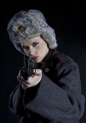 Gunpoint (Andy Kent 100) Tags: girls portrait andy station portraits studio kent women key gun power low photographic soviet guns russian society ak47 gunpoint bromsgrove akphotographic andykent100 wwwwakphotographic
