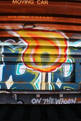 STRIKE Study (KNOWLEDGE IS KING_) Tags: door railroad detail art car by yard train bench fire one graffiti paint open tracks rail railway zee db study socal match strike boxcar bomb railfan freight wh booyah rollingstock rtd saloons benched