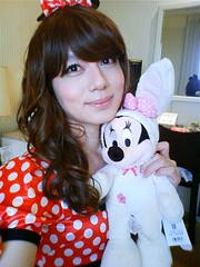 minnie and me *1 (Sweetflower Yui) Tags: japan asian mouse japanese tv dress cd disney tgirl tranny transvestite minnie crossdresser ladyboy yui