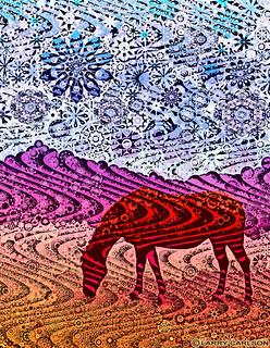 Larry Carlson, Red Striped Horse, digital chromogenic print, 22x26in., 2012.