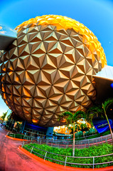 Golden Hour Light (Lynleigh Cooper) Tags: family november light sunset vacation lines fun orlando epcot nikon holidays florida disney fisheye disneyworld wdw waltdisneyworld christmastime goldenhour waltdisney orlandoflorida 2011 primelens d7000 nikond7000 holidaysatdisneyworld