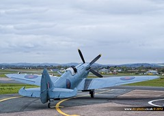 Spitfire PM631 (vaughaag) Tags: airport hurricane may international exeter spitfire 5th 2012 pm631 lf363
