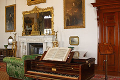 Ickworth House Piano in drawing room (FlyingV99) Tags: park trees music house lake clock church monument kitchen st garden vineyard library room workshop dining rotunda summerhouse ovens ickworth national trust quarters bury edmunds servants