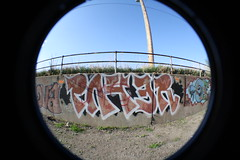 PAYER 2009 (Reckless Artist) Tags: west art minnesota st wall concrete paul photography graffiti photo midwest paint artist tag graf north cement minneapolis fresh spray fisheye northdakota nd twincities graff railing piece burner dakota 2009 mid fargo reckless jh pts tkg payer paer oter syw westfargo payup payr d2f unbuffed