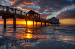 From the Gulf (Brian Koprowski) Tags: ocean sunset sea sky reflection beach gulfofmexico water clouds pier sand gulf pentax florida awesome clearwaterbeach clearwater pier60 pentaxk5 briankoprowski bkoprowski