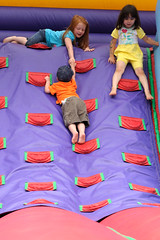 Helping Hand (labels_30) Tags: teamwork bouncycastle familyfunday boysdalecamp boysdalecampfamilyfunday