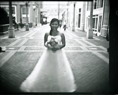 Speed Graphic Wedding-2 (Ryan M Long Photography) Tags: wedding white black film photography long do kodak ryan large shift it x swing m 150 127 400 tray format rise rodinal tilt edu yourself development ektar arista supermatic f47