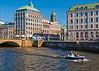Göteborg (johanbe) Tags: city bridge blue sky urban göteborg boat canal nikon day cityscape metro gothenburg central himmel tram clear torn kanal bro hus stad båt spårvagn blå d90 klocka