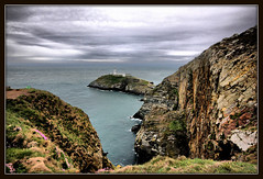 South Stack (Len_Scapov) Tags: sea lighthouse wales cliffs rugged peninsular anglesey southstack lenscapov