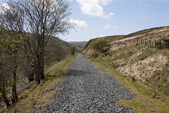 This section had  al lot of gravel left after therailway (Martin Pritchard) Tags: walk railway line cwm bala trawsfynydd prysor
