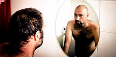 The Heisenberg principle (MastaBaba) Tags: hair bathroom mirror before shaving shave after babak uganda kampala