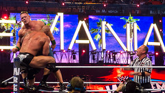 John Cena v The Rock at Wrestlemania XXVIII