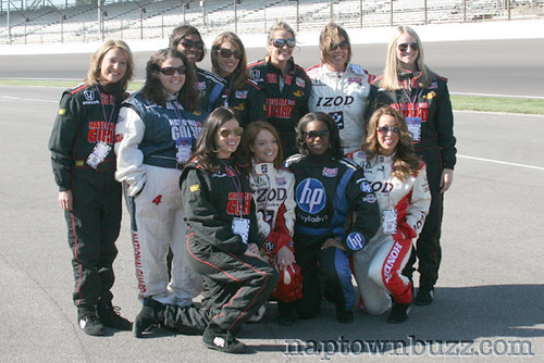 """The Indy Media Gals at the Indy Racing Experience • <a style=""""font-size:0.8em;"""" href=""""http://www.flickr.com/photos/78612590@N05/7217041600/""""  on Flickr</a>"""