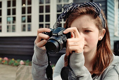 Photo07_3 (PoppyLunaCarter) Tags: camera blue castle girl female grey hoodie nikon exterior makeup teen teenager hever brunette headband hevercastle