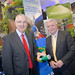 Regional Development Minister Danny Kennedy and NIW Chairman Seán Hogan.  Balmoral Show - NI Water Exhibition Stand