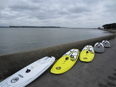 Brand new windsurfing equipment at Poole Windsurfing School