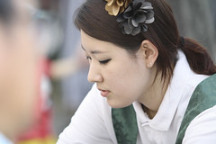 Korean girl in traditional costume (CyprienR) Tags: festival korea seoul 2012 coreenne