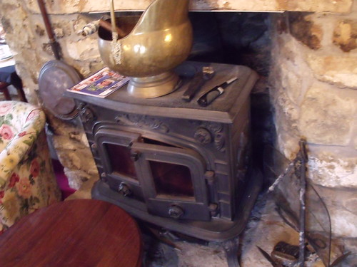 Realistic electric stove fire
