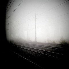 __________________________0095 (Parabold) Tags: railroad november bw white black fog train germany dark square nebel rails monochrom schwarzweiss gleise mnchengladbach catenary oberleitung schienen s8