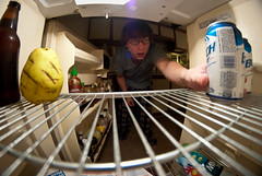 202/365 (Bradley Nash Burgess) Tags: beer project fridge nikon perspective fisheye photoaday inside 365 8mm project365 d80 nikond80 rokinon 365project rokinon8mm rokinon8mmfisheye
