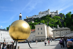 Hohensalzburg view from Kapitelplatz Photo