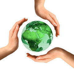 Conceptual Recycling Symbol over Earth Globe (karennina0) Tags: world people white abstract color green industry nature water ecology sign illustration cutout logo design 3d globe hands energy peace symbol humanity earth space environmental icon system whitebackground pollution land environment concept care conceptual recycle recycling protection eco isolated renewal metaphorical synergy sustainable global sustainability globalwarming renewable ecosystem humankind teamwork ecofriendly reuse concepts protecting wholistic recyclingsymbol recyclingsign