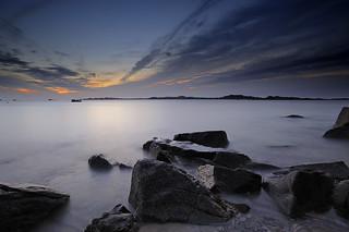 Coucher de soleil sur l'île de Batz [ Bretagne ~ France ]