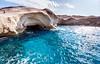 sarakiniko (helen sotiriadis) Tags: blue seascape beach water canon landscape island published greece cyclades milos canonefs1022mmf3545usm sarakiniko canoneos40d