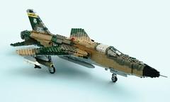 F-105D Thunderchief (Mad physicist) Tags: fighter lego aircraft jet thud usaf f105 thunderchief f105d brickjournal