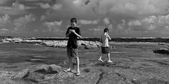 Brothers (Thncher Photography) Tags: leica beach clouds hawaii blackwhite waves rangefinder maui fullframe fx ff rf paia m9 summicron35mm summicron35mmasph spiritofphotography leicam9 agm9