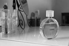 Everyday (?) (smile-a-while) Tags: blackandwhite everyday chanel scent dressingtable