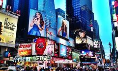 Times Square, NY (Arutemu) Tags: street city nyc travel urban panorama usa ny newyork architecture night america lights evening us cityscape view nightscape manhattan scenic ciudad scene nighttime american timessquare citylights scenes hdr  americain