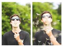 trevin (Spencer.wallace) Tags: flowers summer portrait sun flower nature smile face sunglasses set portraits fun happy washington bokeh awesome laugh